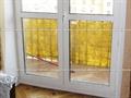 Двузстворчатый балконный блок с стеклянными вставками